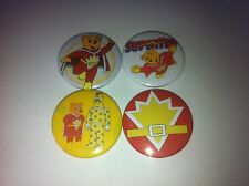 4 Superted button badges 25mm cult retro 80s 90s kids TV UK USA