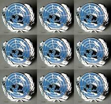 U.N UN United Nations  Peacekeeping Silver Plated Lapel Pin Lot Of 9