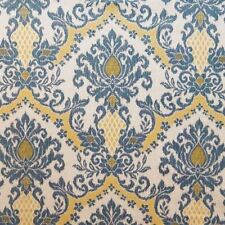1.375 YDS Waverly BEDAZZLE BLUE SKY Gold Ikat Drapery Upholstery Fabric 673282