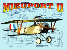 FREEFLIGHT 1/16 SCALE NIEUPORT 11 Co2 PWR MODEL AIRPLANE Printed PLANS & NOTES