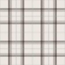 Cambridge Tartan Wallpaper - White / Charcoal FD40535