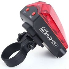 Bicycle Flashing Light Rear Tail 5 LED 2 Laser Beam Safety for Cycling Bike MTB