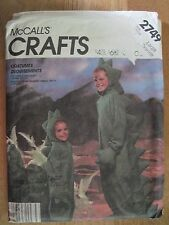 McCall's Crafts  - 2749 - Childs Dinosaur Costume New, UC, FF