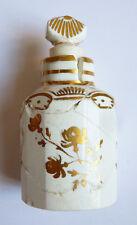Petit flacon à parfum en porcelaine et dorure 18e siècle accidenté