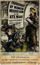 WW2 RECRUITING POSTER ATS WAAF  NEW A4 PRINT HOME FRONT NATIONAL SERVICE