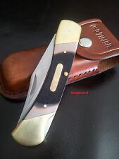 """Schrade5"""" Old Timer Cave Bear70T Folding Pocket Knife w/Pouch Hunting camp knife"""