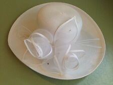 NEW White Ladies Formal Hat Wedding Church Party