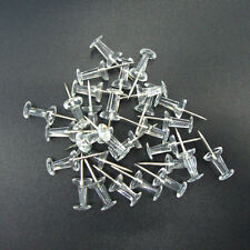 100pcs Transparent Push Pins Drawing Pins Notice Cork Board Pins Thumb Tacks