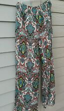 Fachion Fuse Funky Bohemia print long and wide leg pant - pull on me