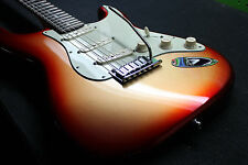 Used Fender American Deluxe Stratocaster Rosewood Fretboard Sunset Metallic OHSC