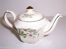 Vintage Sadler Mini Teapot March with Jonquil Flowers Gold Trim Made in England