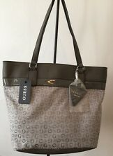 Guess G Logo Purse Tote Hand Bag Gray/Grey Buenos Dias NWT