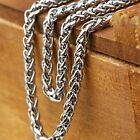 "Rope Chain Mens/Womens 24"" Stainless Steel Necklace 3MM Link Fashion Jewelry"