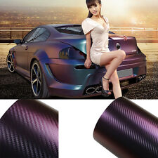 "8""x12"" Chameleon Carbon Fiber Vinyl Film Wrap Color Change Car Body Film Sticker"