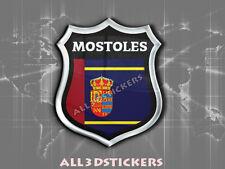 Pegatina Emblema 3D Relieve Bandera Mostoles - Todas las Banderas del MUNDO