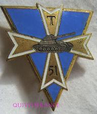 IN8552 - INSIGNE 51° B.T, 1° D.B, doré, émail, 1 boléro sans marque