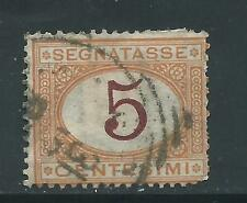 """ITALY used Scott J5 1870 5ct 'numeral"""" postage due"""