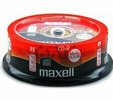 MAXELL cd-r musique xl-ii digital audio Enregistrable 80Min - 25 Broche Pack-Nouveau