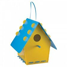 Tweet Tweet Home - Funky Bird House - Yellow and Blue