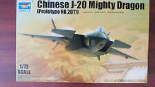 CHINESE J-20 MIGHTY DRAGON (NEW) TRUMPETER 1/72 PLASTIC KIT
