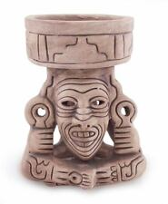 Ceramic Replica Figurine Vessel Handmade 'Aztec Fire God' NOVICA Mexico