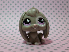 Littlest Pet Shop LPS #982 RARA Grigio a puntini soffitto eared Bunny Rabbit Occhi Viola