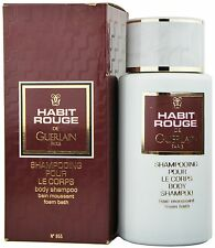 (27,98EUR/100ML) GUERLAIN - HABIT ROUGE 250ML BODY SHAMPOO - FOAM BATH NEU OVP