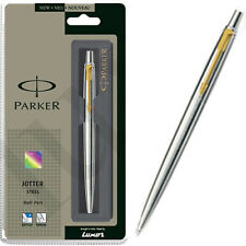 PARKER Jotter Stainless Steel GT Ball Pen (Chrome) - Fine Quink Blue Ink - New
