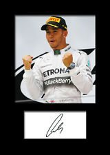 LEWIS HAMILTON #1 Signed Photo Print A5 Mounted Photo Print - FREE DELIVERY