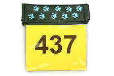 Embroidered Arm Band Ring Number Holder for dog shows.  Image - paws