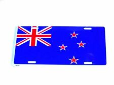 FLAG OF NEW ZEALAND METAL LICENSE PLATE  ANZAC