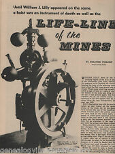 William J Lilly Inventor of the Life-Line of the Mines+Butte,Fielder,Staple