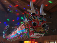 AS IS- Real DRAGON KITE TAIL paper mache head Chinese Asian PARTY fund raising