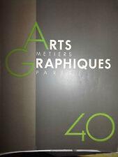 PARIS. EDITIONS ARTS ET METIERS GRAPHIQUES. N° 40.  Mars 1934