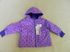 NEW Girls The Children's Place Winter Coat Thermolite Purple with Hearts 9/12 mo