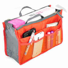 Orange Travel Insert Handbag Organiser Purse Large liner Organizer Tidy Bag