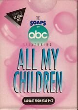 ALL MY CHILDREN 1991 STAR PICS COMPLETE FACTORY BASE CARD SET OF 72 SUSAN LUCCI