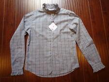 New UNIQLO INDES DE LA FRESSANGE Paris Stand Collar Blouse Shirt S Cotton $39.99