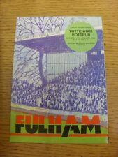 07/01/1984 Fulham v Tottenham Hotspur [FA Cup] . Item appears to be in good cond