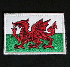 WALES NATIONAL FLAG CYMRU DRAGON UK WELSH EMBROIDERED VELCRO® BRAND  BADGE PATCH