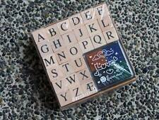 Mini Alphabet Stamp Box Set (with ink pad)