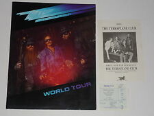 "ZZ Top/Terraplane ""Afterburner"" 1986 UK Tour Programme + Ticket + Flyer"