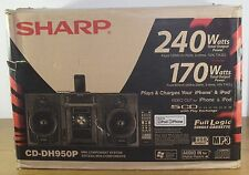 Sharp CD-DH950P 240W 5-Disc Compact Stereo/2-Way Speaker System -Black
