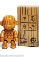 """2.5"""" Qee Wood Grain Series - Figurine MonQ China Ad Version by Toy2R Style Bois"""