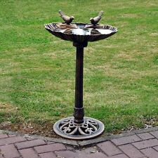 NEW TRADITIONAL BRONZE EFFECT GARDEN OUTDOOR BIRD BATH TABLE WEATHERPROOF FREE P