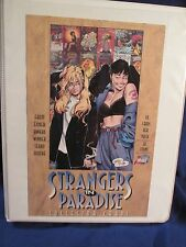 1996 Strangers in Paradise Trading Card Set (90) Comic Images Notebook & Pages