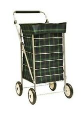 Brand New Sabichi 4 Wheel Shopping Trolley Tartan Check