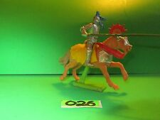 Elegant Vintage DeeTail 1972 Britain's Ltd. Mounted English Knight w/Lance!026