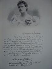 Gravure Portrait de la Reine Amélie de Portugal 1904