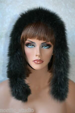 FORREST GREEN Genuine FOX FUR Strip Collar Scarf, Hood Trim